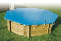 Zwembadafdekzeil 550gr. 410 x 410 cm  voor achthoekige zwembaden