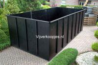 Hdpe vijver 350 x 80 x 40 cm zwart maatwerk