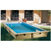 Ubbink Zwembad Azura  450 cm x 250 x 126 Hoog Blauwe Folie compleet met alle teobehoren