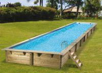 Ubbink Zwembad linéa 1550 x 350 x 155 cm hoog Blauwe folie compleet met alle toebehoren