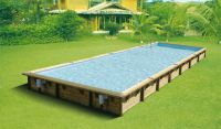 Ubbink Zwembad linéa 1100 x 500 x 140 cm hoog Blauwe folie compleet met alle toebehoren