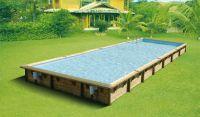 Ubbink Zwembad linéa 1100 x 500 x 140 cm hoog Beige folie compleet met alle toebehoren
