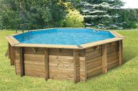 Ubbink Zwembad Océa 580 x 130 cm hoog Grijze folie compleet met alle toebehoren