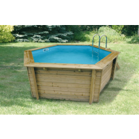 Ubbink Zwembad Océa 430 x 120 cm hoog Blauwe compleet met alle toebehoren