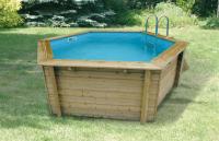 Ubbink Zwembad Océa 430 x 120 cm hoog Beige folie compleet met alle toebehoren