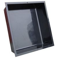 Polyesterbak 110 x 110 x 30 cm hoog zwart